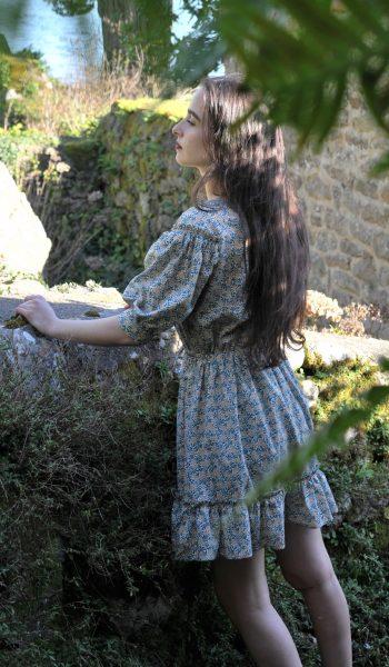 Robe Ada rose desbois