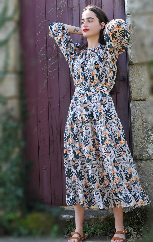 Robe Agathe rose desbois