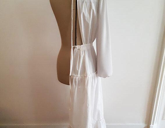 toile robe Agathe rose desbois